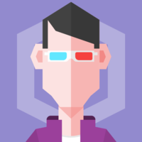 hexagonal avatar by asset